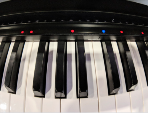 This gadget turns your old piano into an educational 'smart' piano.